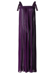 Adriana Degreas Maxi Dress Pink Purple