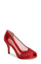 Menbur 'Balcones' Peep Toe Pump Women Red