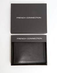 French Connection Leather Wallet With Embossed Logo Black