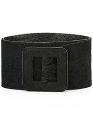 Yves Saint Laurent Vintage Wide Belt Black