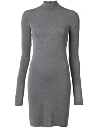 Gareth Pugh Long Sleeve Mini Dress Grey