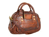 Frye Elaine Vintage Satchel Whiskey Antique Pull Up Satchel Handbags Brown