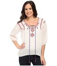 Roper 0285 Cotton Twill Peasant Blouse White Women's Blouse