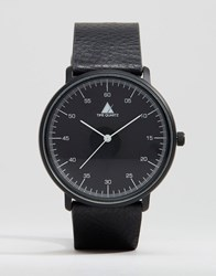 Asos Watch In Black With White Hands Black