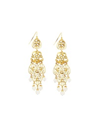 Jose And Maria Barrera Filigree Drop Earrings