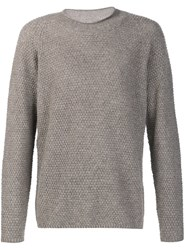 Massimo Alba Crew Neck Sweater Nude Neutrals