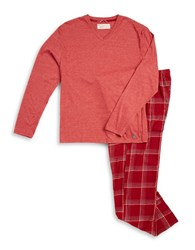 Original Penguin Flannel Pajama Set Red