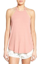 Women's Soprano Ribbed High Neck Tank Peony