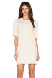 Fine Collection Sweater Dress Cream