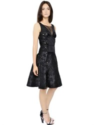 Nina Ricci Floral Cotton Jacquard Dress