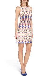 Women's Tahari Ikat Print Scuba Sheath Dress