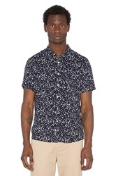 Native Youth Ink Blot Shirt Navy