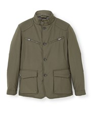 Mango Multi Pocket Jacket Green