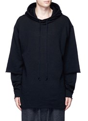 Song For The Mute Double Layer Long Sleeve Wool Hoodie Black