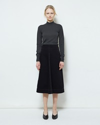 Lemaire Flared Denim Skirt