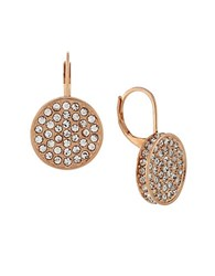 Vince Camuto Shields Of Pave Disc Earrings Rose Gold