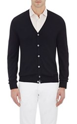 Zanone Men's V Neck Cardigan Black