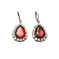 Zt Ruby Red Teardrop Earrings