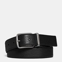 Coach Regular Harness Cut To Size Reversible Belt Black Mahogany