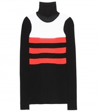 Emilio Pucci Wool Blend Turtleneck Sweater Black