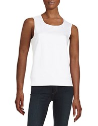 Marc New York Faux Suede Mixed Media Shell White