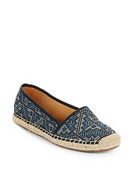 Franco Sarto Whip Woven Fabric Espadrilles Blue