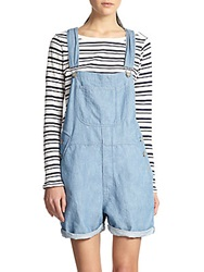 3X1 Short Denim Overalls Berto Blue
