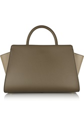 Zac Posen Eartha East West Color Block Leather Tote