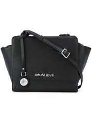 Armani Jeans Removable Strap Crossbody Bag Black
