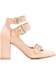 See By Chloe See By Chloe Buckled Pumps Pink And Purple