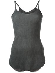 Lost And Found Fitted Tank Top Grey