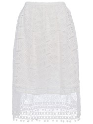 French Connection Freddy Lace Skirt White