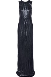 Just Cavalli Sequinned Crepe Gown Midnight Blue