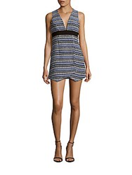 Bcbgeneration Asymmetrical Sleeveless Mini Dress Academy Blue