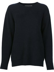 The Elder Statesman 'Heavy Sea' Jumper Blue