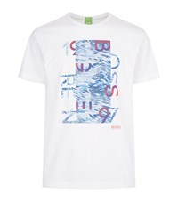 Hugo Boss Green Tee 4 Graphic T Shirt Male White