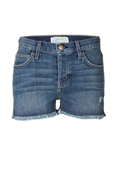 Current Elliott Denim Shorts With Frayed Hem