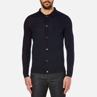 A.P.C. Men's Paolo Knitted Polo Shirt Marine Blue