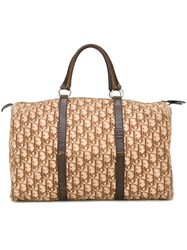 Christian Dior Vintage Monogram Holdall Nude And Neutrals