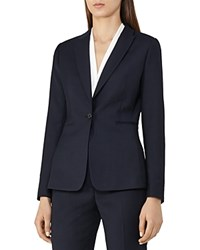 Reiss Indi Textured Blazer Navy