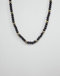 Icon Brand Multi Beaded Necklace Black