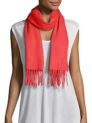 Yves Saint Laurent Wool And Cashmere Scarf Hot Coral