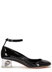 Alexander Mcqueen Black Perspex And Skull Heel Leather Pumps