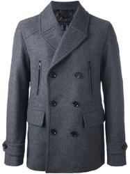 Belstaff Double Breasted Peacoat Grey