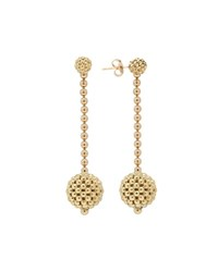 Lagos Caviar 18K Gold Drop Earrings