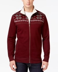 Club Room Sherpa Lined Full Zip Mock Neck Sweater Only At Macy's Marooned