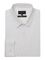 Label Lab Men's Foster Textured Skinny Shirt White