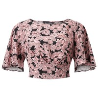 Miss Selfridge Floral Tie Angel Top Pink