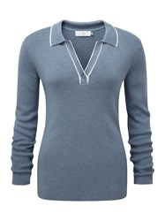 Henri Lloyd Cora Ls Polo Knit Blue