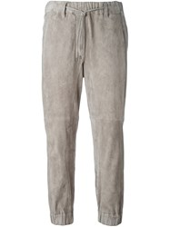 Brunello Cucinelli Loose Fit Cropped Trousers Nude Neutrals